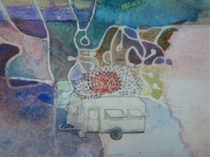 MGlikson_ Caravan of Ling_from Dear Safia, video,watercolour,paper_2013